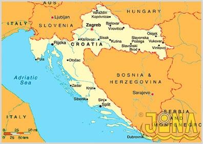 chorvatsko-mapa